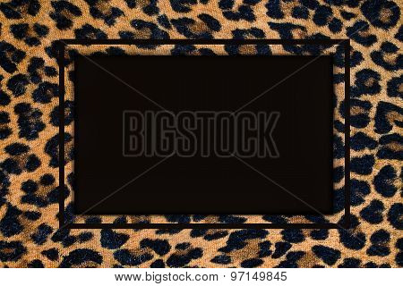 frame with a leopard pattern