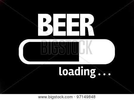 Progress Bar Loading with the text: Beer