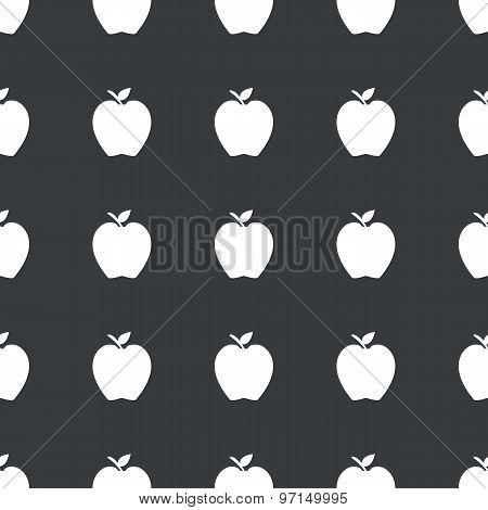Straight black apple pattern