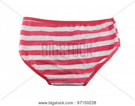 Women's Underwear Isolated On White.