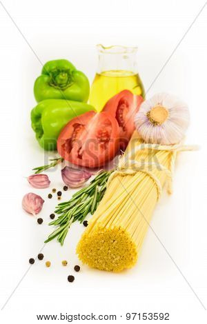 Dried Pasta With Vegetables And Olive Oil