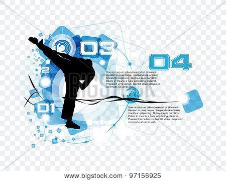 Sport vector. Karate