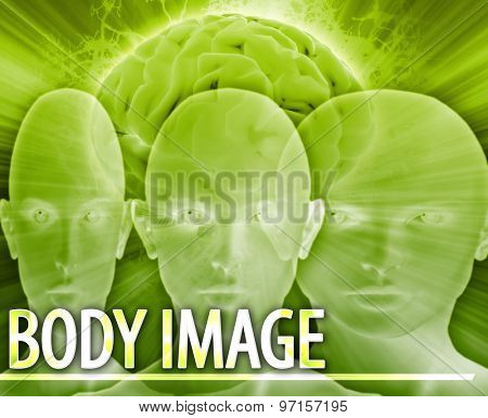 Abstract background digital collage concept illustration Body image disorder