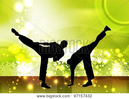 Martial art, vector