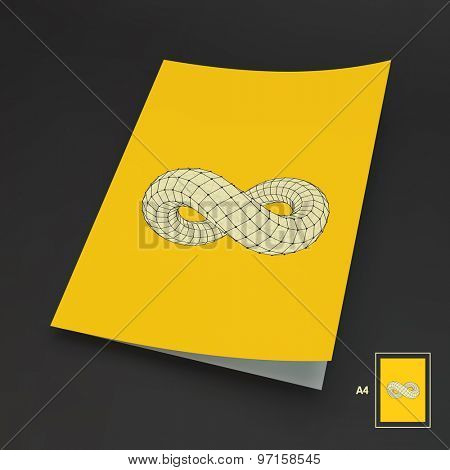 A4 Business Blank. Infinity Symbol. Can Be Used For Advertising, Marketing And Presentation.