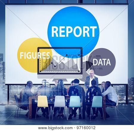 Financial Report Strategy Tactics Information Concept