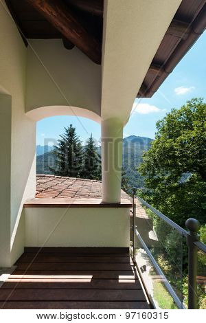 Balcony of a classic house, outdoors