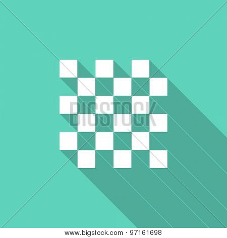 chess flat design modern icon with long shadow for web and mobile app