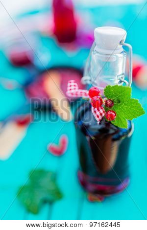 Currant - homemade red currant juice