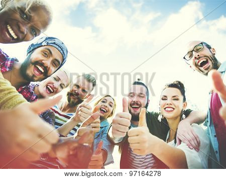 Friends Friendship Like Thumbs up Togetherness Fun Concept