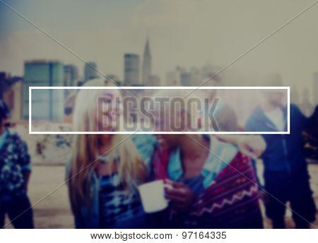Summer Togetherness Friendship Vacation Bonding Concept