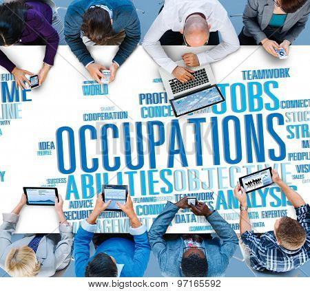 Occupations Careers Community Experience Global Concept
