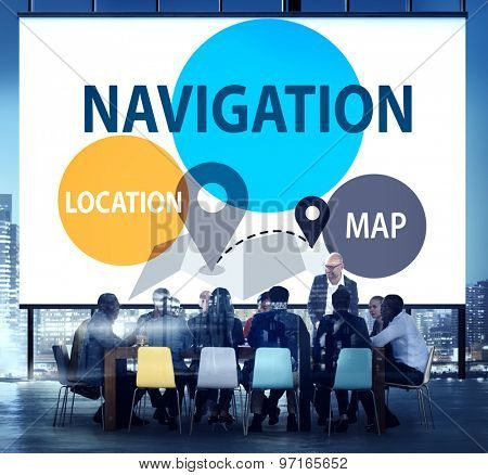 Navigation Direction Destination Travel Guide concept