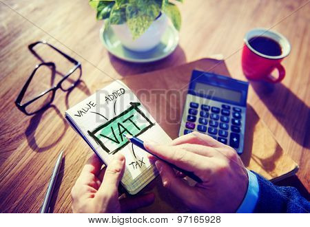 Value Added Tax VAT Finance Taxation Accounting Concept