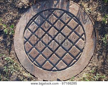 Old And Rusty Manhole