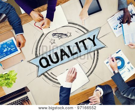 Quality Satisfaction Grade Guarantee Rank Concept