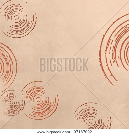 Beige background with circles in soft retro style