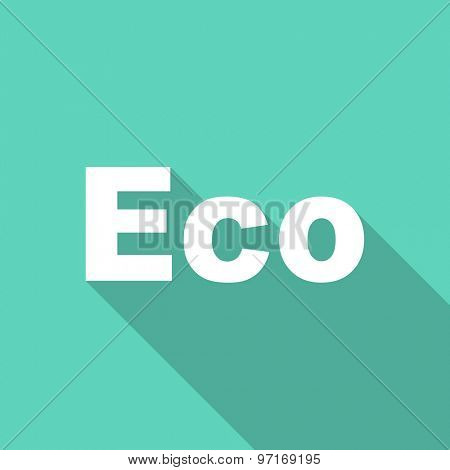 eco flat design modern icon with long shadow for web and mobile app