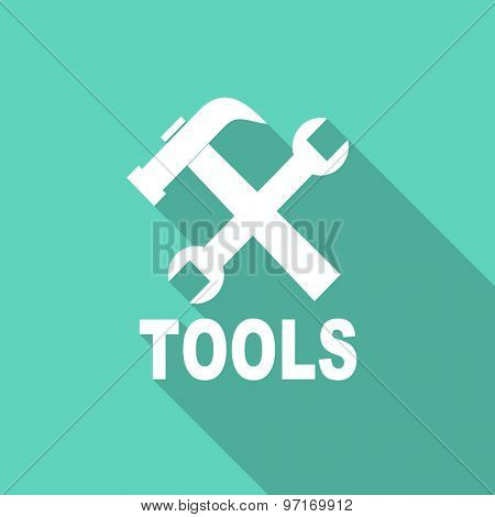tools flat design modern icon with long shadow for web and mobile app