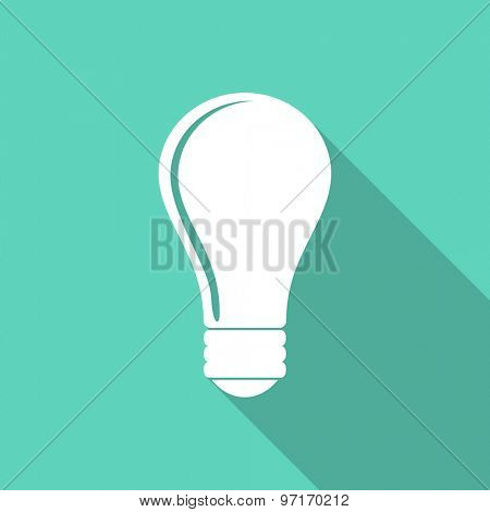 bulb flat design modern icon with long shadow for web and mobile app