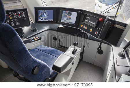Driver cabin of a tram
