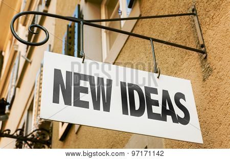 New Ideas sign in a conceptual image