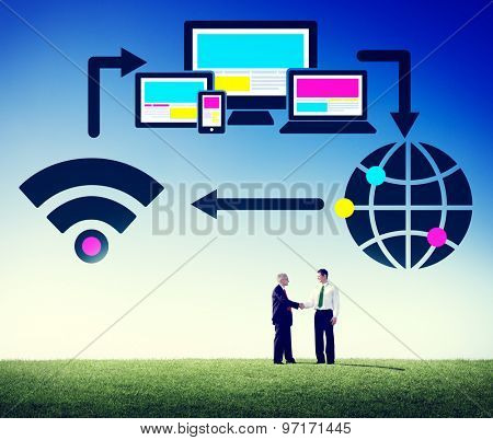 Computer Network Internet Technology Connection Concept