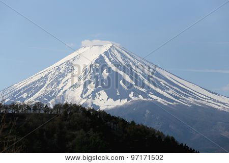 Mount Fuji From Kawaguchiko Lake.