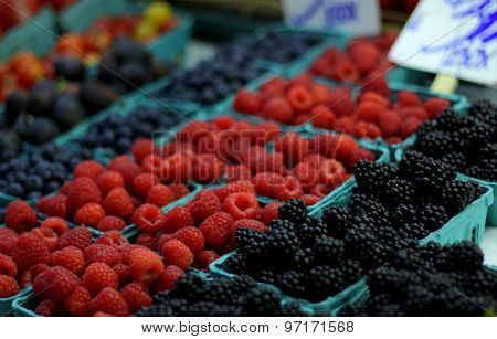 Fruit Counter at a Market Place