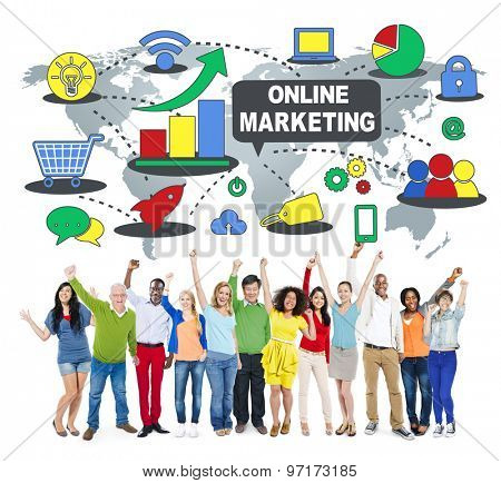 Online Marketing Branding Campaign Concept