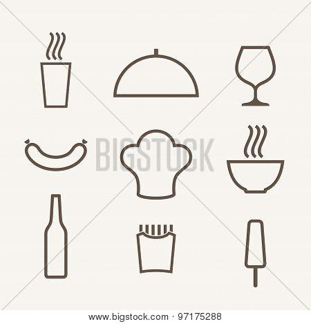 Food. Icon set.