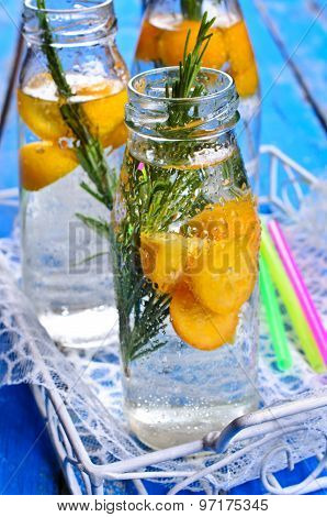 Drink With Citrus And Rosemary