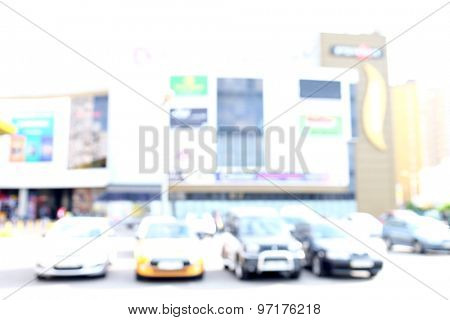 Blurred background store, exterior