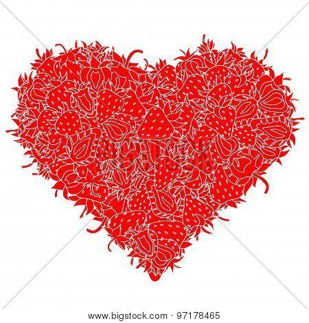 Heart Made Of Strawberries