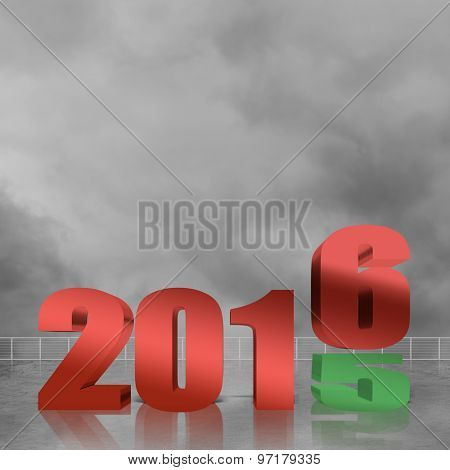 2016, new year concept in sign and text.