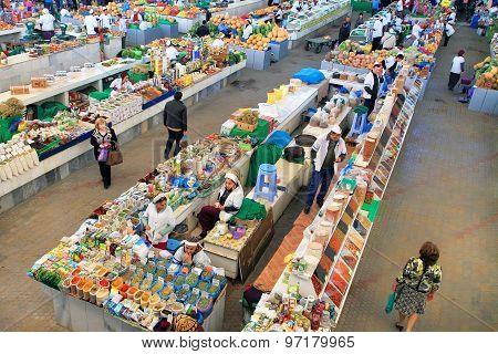 Ashgabad, Turkmenistan - October 10, 2014. Farmers Market