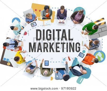 Digital Marketing Online Promotion Concept