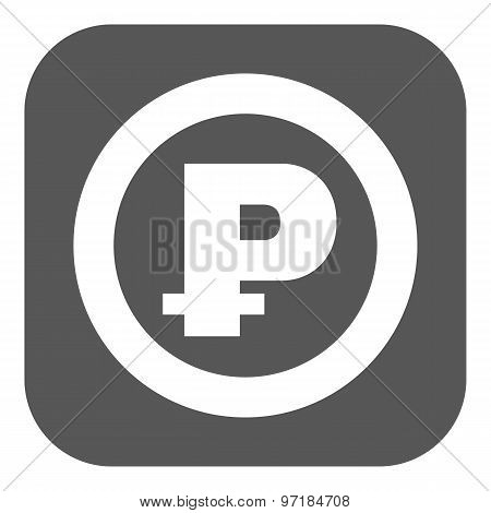 The ruble icon. Cash and money, wealth, payment symbol. Flat
