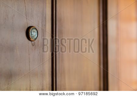 Wooden Door Peephole