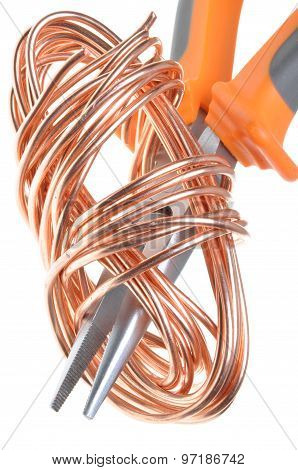 Pliers with copper wire
