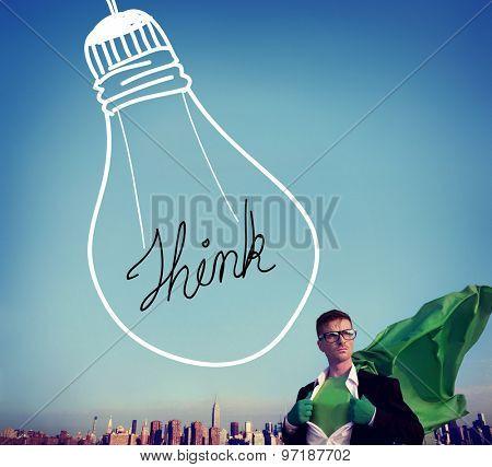Ideas Inspiration Think Creative Bulb Concept
