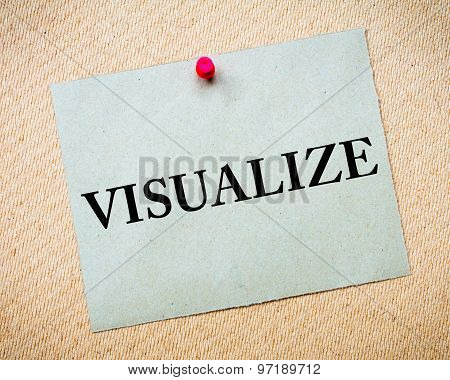 Visualize Message Written On Paper Note