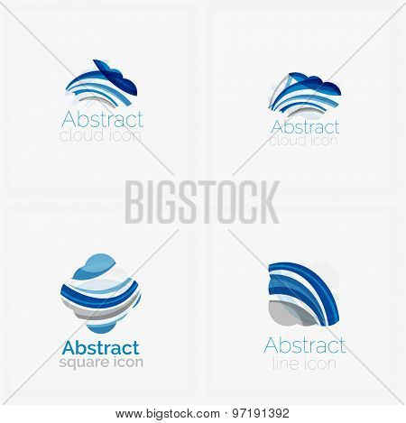 Circle abstract shape logo.  illustration