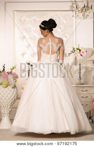 Attractive Bride In Wedding Dress