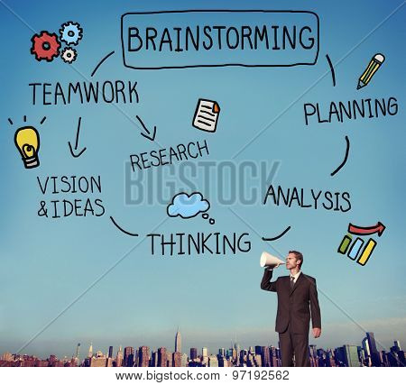 Brainstorm Planning Sharing Strategy Ideas Concept