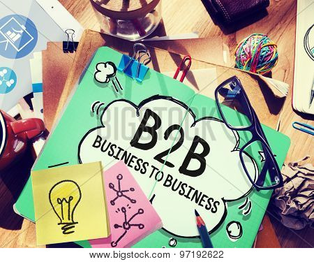 Business To Business Marketing Company Industry Concept