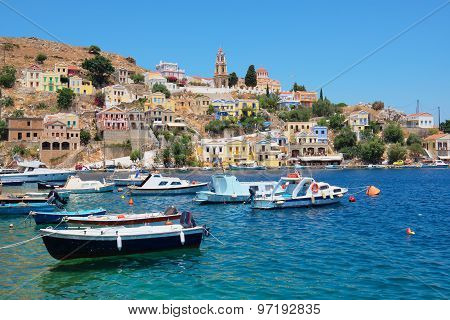 Symi Harbour. Greece