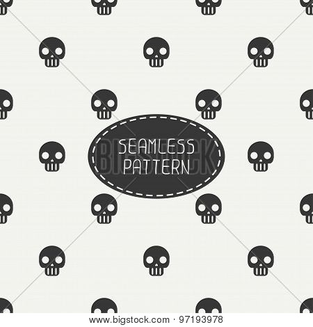 Geometric hipster seamless pattern with skulls and bones. Wrapping paper. Scrapbook paper. Tiling. V