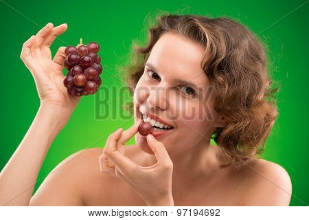 Eating Red Grape