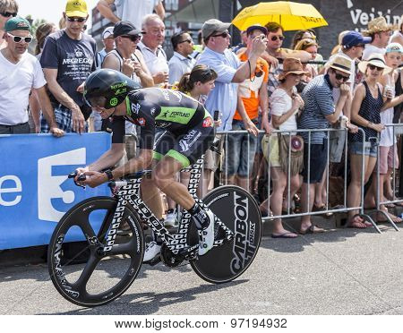 The Cyclist Pierre-luc Perichon - Tour De France 2015